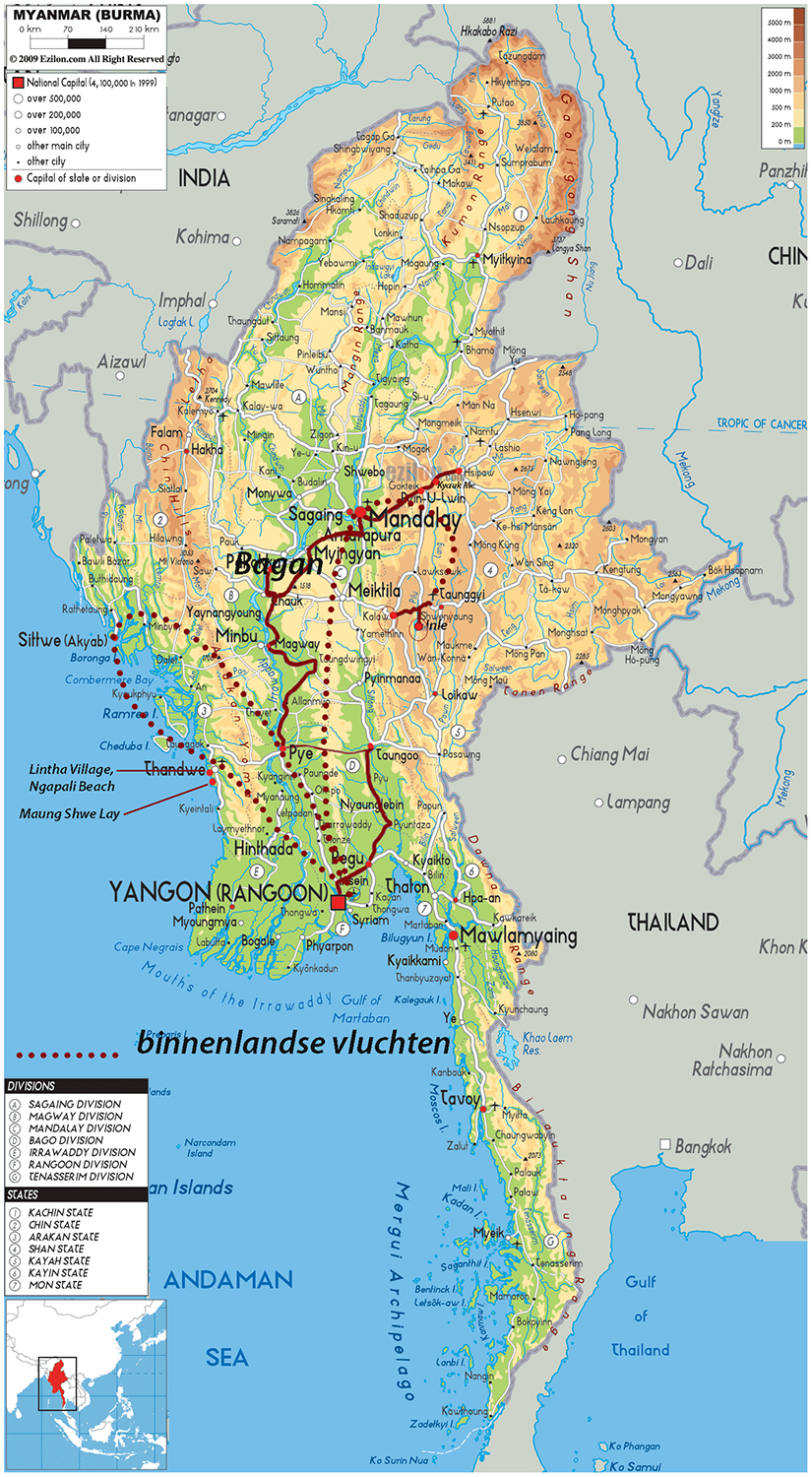 Travelogue MyanmarBurma – Tourist Map Of Myanmar