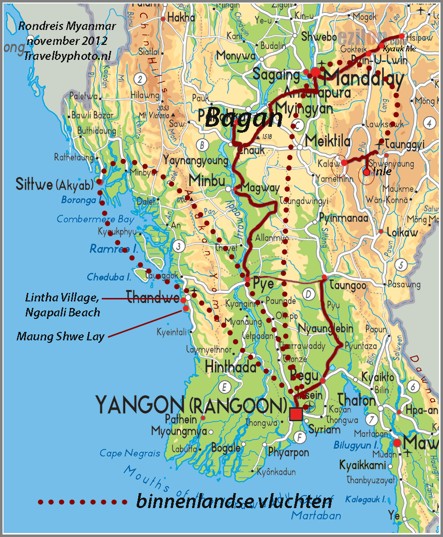Travelogue MyanmarBurma – Myanmar Tourist Map